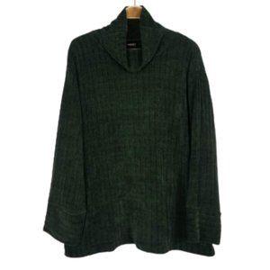 Rafaella Chunky Knit Cypress Pullover Sweater